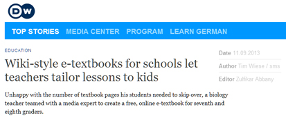 Wiki-style e-textbooks for schools let teachers tailor lessons to kids