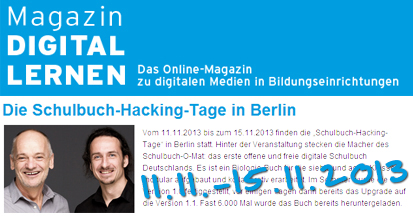 Schulbuch-Hacking-Tage in Berlin